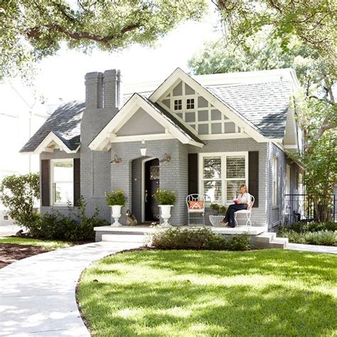 cute small homes white painted brick houses gray painted brick homes small