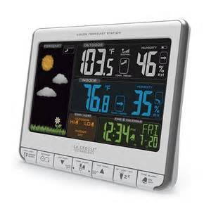 wireless color weather station la crosse technology 174 wireless color forecast station in