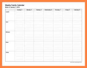 free family calendar template 8 family calendar template invoice exle 2017