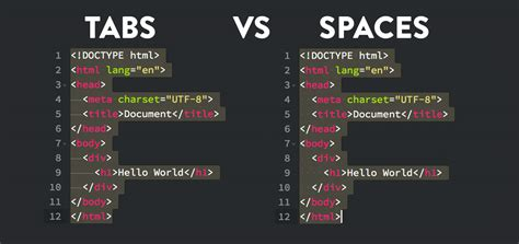 how to use spaces tabs vs spaces for indentation in coding truly code