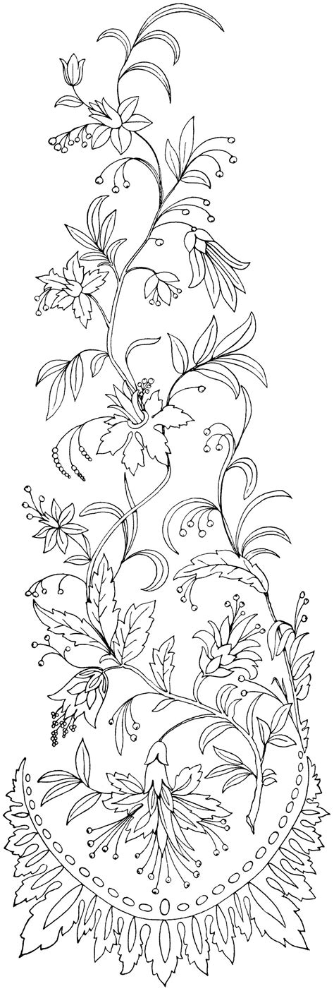 black and white embroidery patterns free vintage image floral embroidery pattern old design