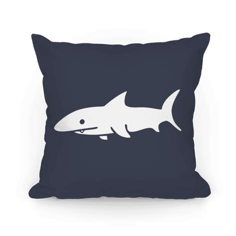 big shark pillow big shark pillow navy throw pillow lookhuman
