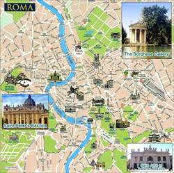 where is rome on a map rome tourist map rome italy mappery