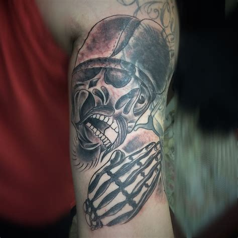 trucker tattoos mikeygoliath calavera cover up goliath mikey mora