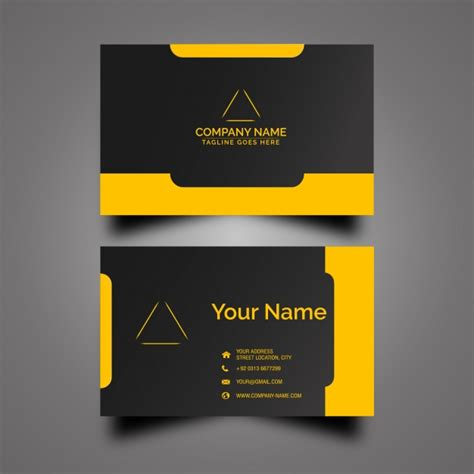 yellow business card template free black and yellow business card vector free