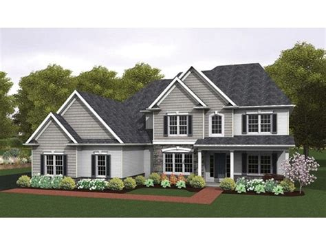 eplans colonial house plan two story great room 2256 eplans colonial house plan colonial with 2 story great