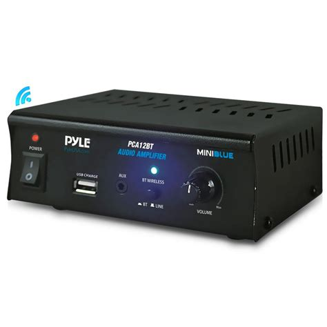 Port Usb Bluetooth new pyle pca12bt 2 x 25w bluetooth stereo power lifier