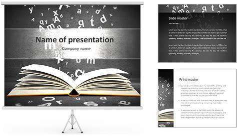 Design Vorlagen Buch Offenes Buch Mit Buchstaben Auf Konkrete Hintergrund Powerpoint Vorlagen Und Hintergr 252 Nde Id
