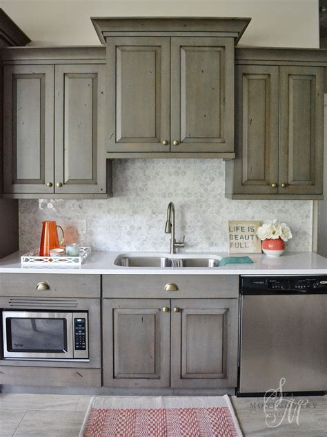 Marble Backsplash Kitchen Sita Montgomery Interiors My Home Basement Kitchen Marble Backsplash