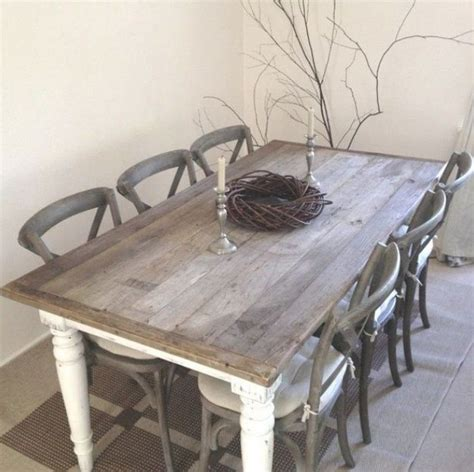 shabby chic dining table chairs and bench home design