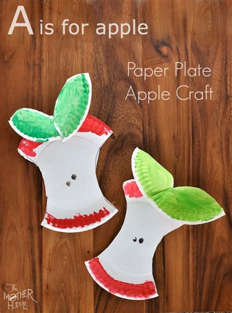 Paper Plate Apple Craft - crafts paper plates picmia