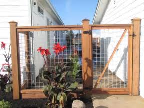 How To Keep Dog In Yard Without Fence Hog Wire Fence And Gate Gardening Pinterest Gardens