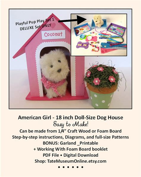 18 inch doll house accessories american girl 18 inch doll house playful pup deluxe pattern dog house bed furniture