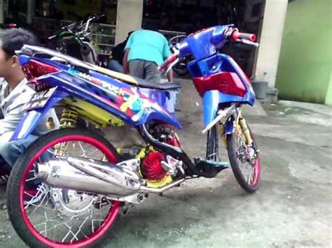 modifikasi mio racing biru modif custom jok