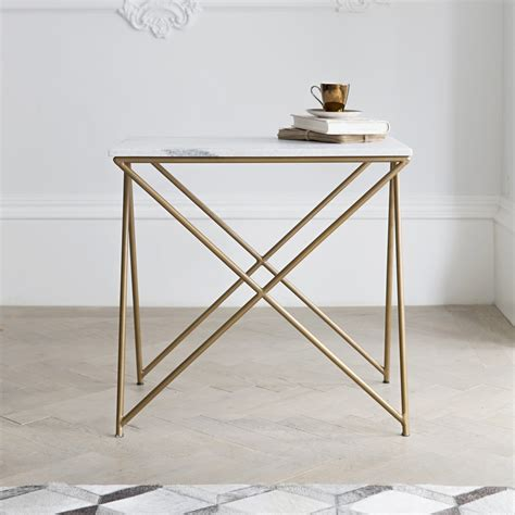 Marble Side Table Stellar White Marble Side Table
