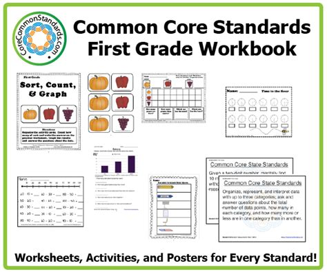 Common Math Worksheets 1st Grade by Grade Common Workbook