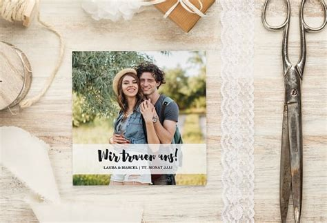 Foto Hochzeitseinladung by Hochzeitseinladungen Selbst Gestalten Myprintcard