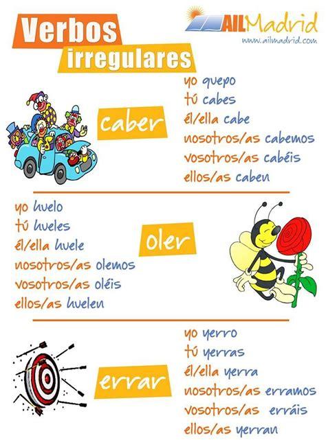 imagenes de palabras homografas 1000 images about irregular verbs on pinterest spanish