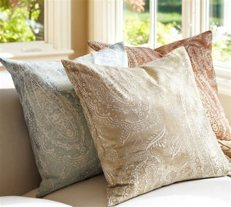 Pillow Covers Pottery Barn by 1 Pottery Barn Jordana Paisley Pillow Cover 24x24 Terra