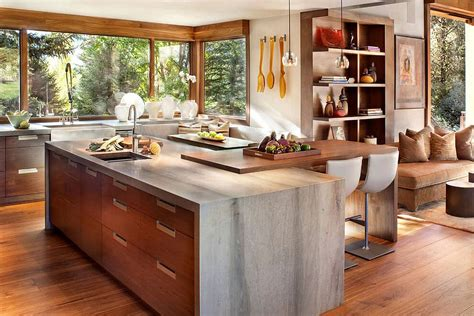 rustic modern kitchen cabinets colorado mountain home by suman architects leaves your