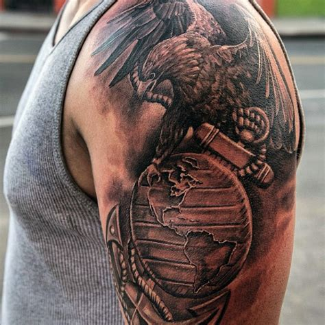 eagle globe and anchor tattoos 90 marine tattoos for semper fi ink design ideas