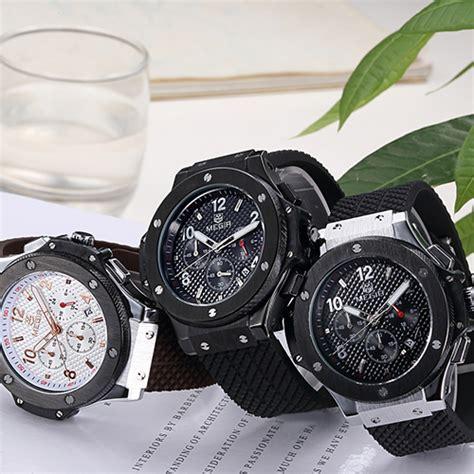 Jam Tangan Megir megir jam tangan analog mn3002gbk brown silver