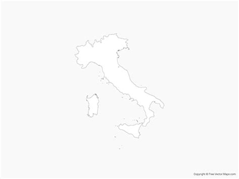 vector map italy vector map of italy outline free vector maps