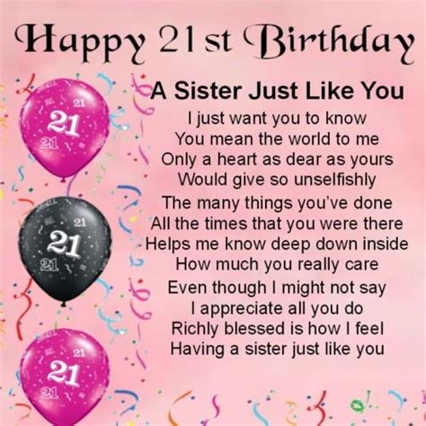 21 Yrs Birthday Quotes 38 Best Images About 21st Birthday Sister Quotes On