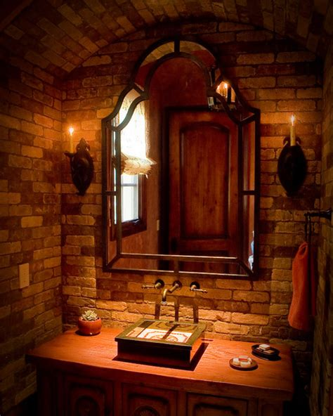 Rustic Cabin Bathroom Ideas Rustic Powder Room