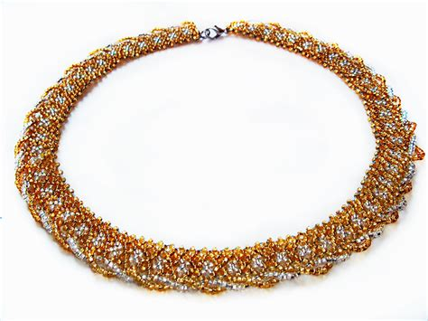 old pattern gold necklace free pattern for beaded necklace gold beads magic