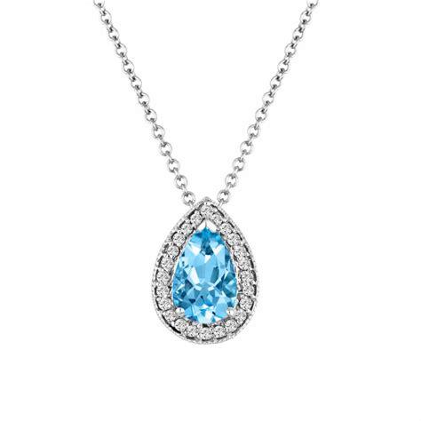 Aquamarine Pendant Necklace, Pear Shape Aquamarine
