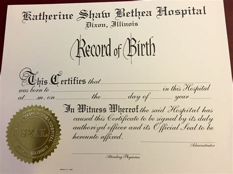 hospital birth certificate template putting my hancock on a new beginning ksb pulse