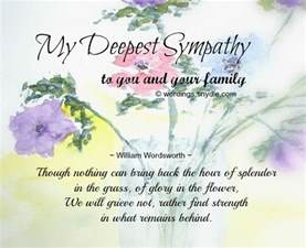 sympathy messages for loss of wordings and messages