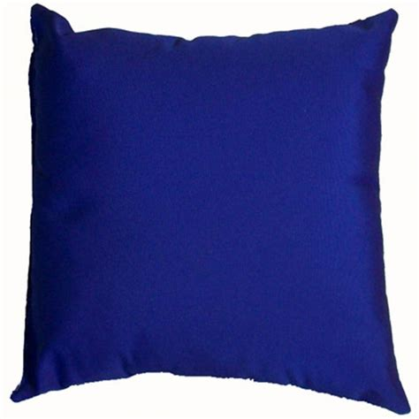 Blue Pillows Royal Blue Sunbrella Outdoor Throw Pillow Dfohome