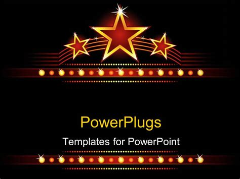 powerpoint template big stars background with stars and