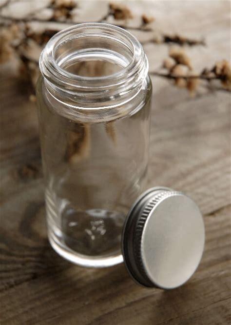 glass spice jar with metal cap