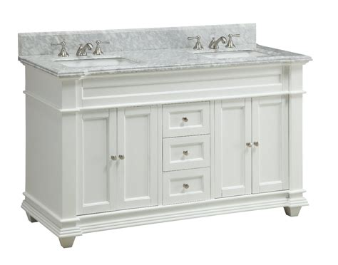 60 Inch White Bathroom Vanity Adelina 60 Inch Sink Bathroom Vanity White Finish
