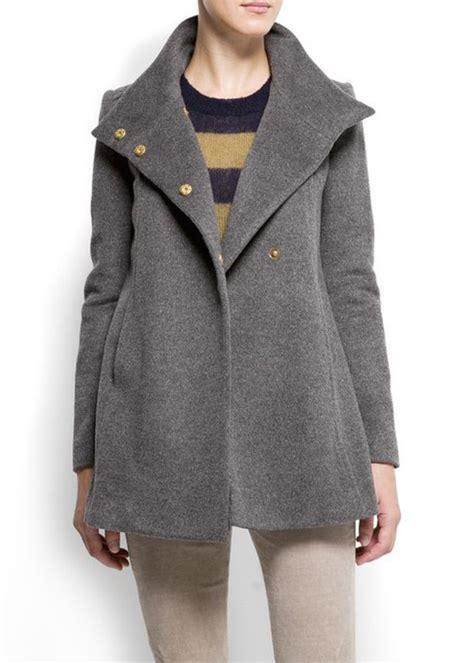 a line swing coat coat a line wool coat grey coat swing coat winter