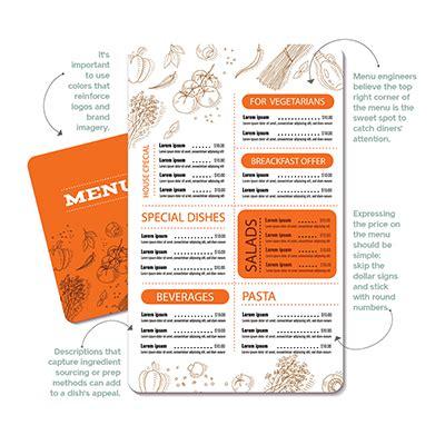 science  menu design  foods