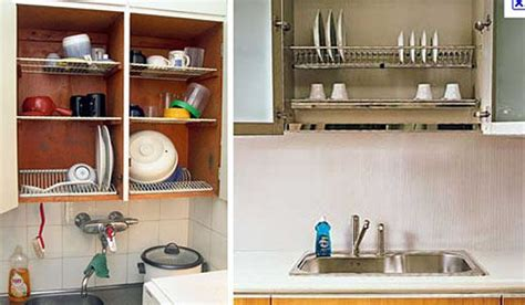 Smart kitchen space saver dish drying closet above the sink treehugger