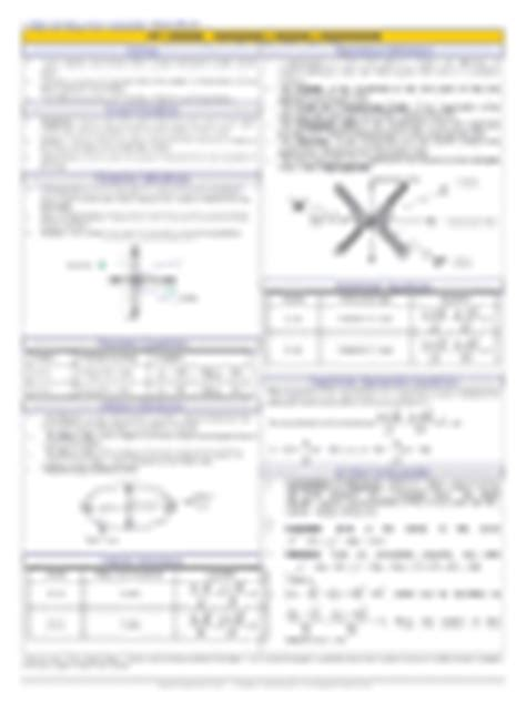 conic sections formula sheet trigonometry conics parabolas ellipses and hyperbolas