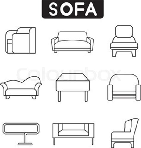 chair side view drawing chair icons in side view vector colourbox