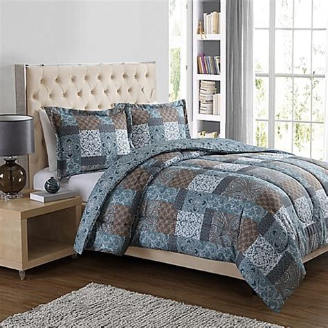 bed bath and beyond charleston charleston patch 3 piece comforter set in blue bed bath