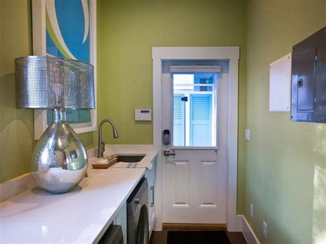 narrow utility room and narrow laundry room contemporary laundry room sherwin williams hearts of palm hgtv