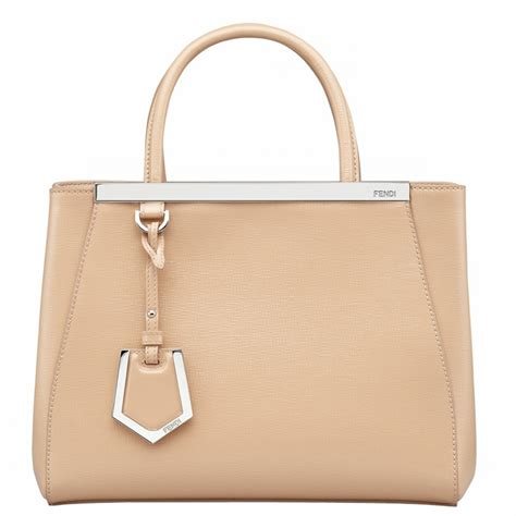 Fendi 2jours Tricolours authentic fendi petit 2jours 8bh253 beige at modaqueen