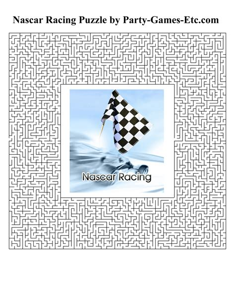 printable car games for adults nascar racing party games free printable games and