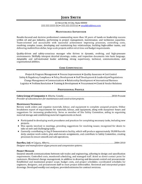 Construction Project Manager Resume Sample Doc by Maintenance Supervisor Resume Template Premium Resume