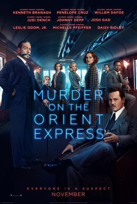 murder on the orient express poster teaser trailer