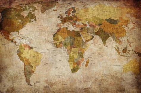 world map wallpaper murals vintage world map wall mural