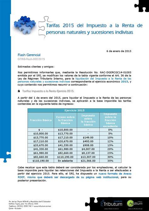 tarifa impuesto a la renta 2015 tarifas impuesto a la renta 2015 personas naturales y